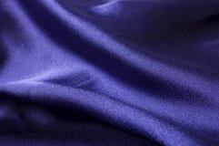 Particolare di seta blu profondo del panno Immagine Stock