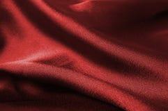 Particolare di seta rosso del panno Immagine Stock