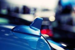 Particolare di un'antenna moderna dell'automobile Fotografie Stock