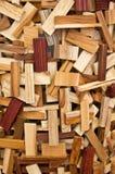 Particolare di un certo legno del ractangle Fotografia Stock
