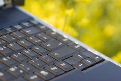 Particolare di un computer portatile Fotografia Stock Libera da Diritti