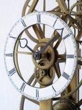 Particolare di un orologio di scheletro Fotografie Stock