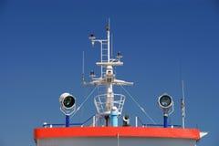 Particolare di un ponticello di una nave Immagini Stock