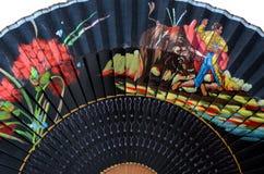 Particolare di un ventilatore spagnolo tipico Fotografia Stock Libera da Diritti