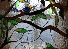 Particolare di un vetro macchiato Fotografia Stock Libera da Diritti