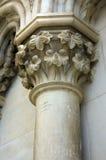 Particolare di una colonna vandalized immagine stock