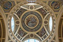 Particolare di una cupola dorata Immagini Stock