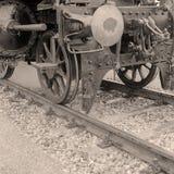 Particolare di una locomotiva di vapore Fotografie Stock Libere da Diritti