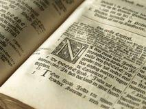 Particolare di vecchia bibbia Immagini Stock Libere da Diritti