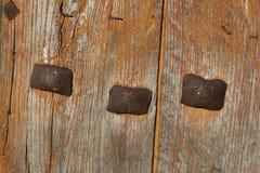 Particolare di vecchio portello di legno Fotografie Stock Libere da Diritti