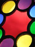 Particolare di vetro macchiato Fotografia Stock Libera da Diritti