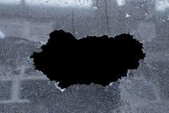 Particolare di vetro rotto Fotografia Stock