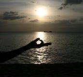 Particolare di yoga Fotografie Stock