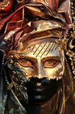 Particolare dorato della mascherina Fotografie Stock Libere da Diritti