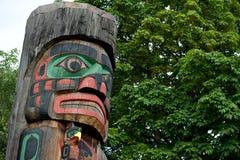 Particolare Duncan, Columbia Britannica, Canada del palo di totem Fotografie Stock