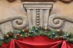 Particolare e decorazione di scultura di pietra di architettura Immagine Stock Libera da Diritti