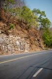 Particolare e strada della montagna della sezione Fotografie Stock