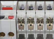 Particolare elettrico di Fusebox Fotografia Stock Libera da Diritti