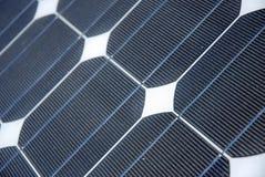 Particolare a energia solare Fotografie Stock