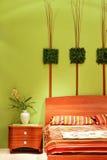 Particolare floreale della camera da letto Immagini Stock