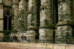 Particolare fuori della cattedrale a Reims Fotografia Stock Libera da Diritti