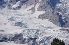 Particolare, ghiacciai sul supporto più piovoso fotografia stock libera da diritti