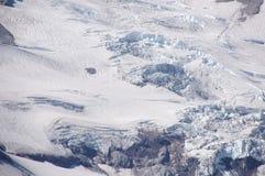 Particolare, ghiacciai sul supporto più piovoso fotografie stock