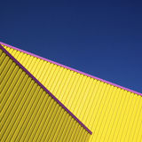 Particolare giallo di architettura fotografia stock