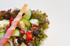 Particolare greco dell'insalata Fotografia Stock
