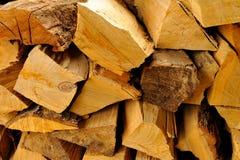 Particolare impilato della legna da ardere Fotografia Stock Libera da Diritti