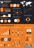 Particolare infographic   Fotografia Stock