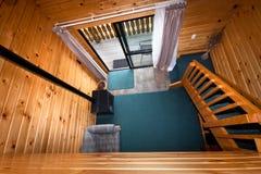 Particolare interno di legno dell'appartamento della casetta Immagini Stock Libere da Diritti