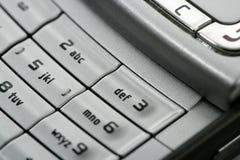 Particolare a macroistruzione della tastiera del telefono mobile Immagine Stock Libera da Diritti