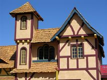Particolare medioevale 5 della casa Fotografia Stock