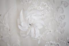 Particolare nuziale del corsetto Fotografia Stock Libera da Diritti