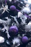 Particolare operato dell'albero di Natale Fotografia Stock