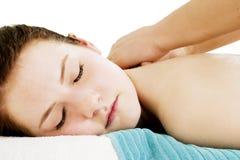Particolare posteriore di massaggio Fotografie Stock Libere da Diritti