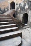 Particolare reale antico delle scale Fotografia Stock Libera da Diritti