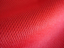 Particolare rosso del tessuto Immagine Stock