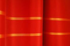 Particolare rosso delle tende Fotografia Stock
