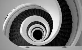 Particolare a spirale delle scale immagini stock