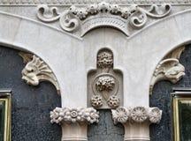 Particolare storico di architettura di Barcellona Fotografie Stock