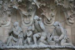 Particolare su Sagrada Familia Immagine Stock