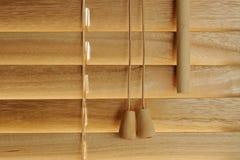 Particolari ciechi di legno fotografia stock