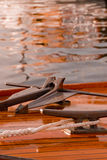 Particolari classici dell'yacht immagini stock