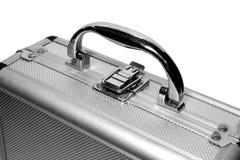 Particolari d'acciaio di caso - serratura e pinsa fotografia stock libera da diritti