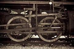 Particolari da un vecchio treno del vapore Immagine Stock