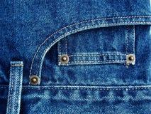 Particolari dalle blue jeans Fotografia Stock