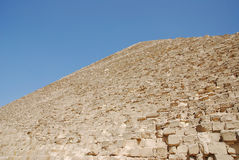 Particolari dei blocchi di pietra della piramide di Giza Fotografia Stock