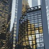 Particolari dei grattacieli Immagini Stock